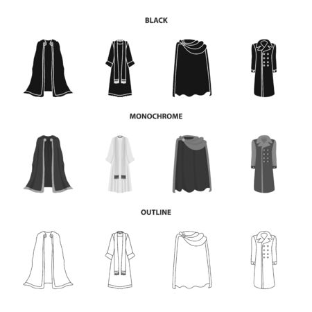 Isolated object of material and clothing icon. Set of material and garment stock vector illustration. Иллюстрация
