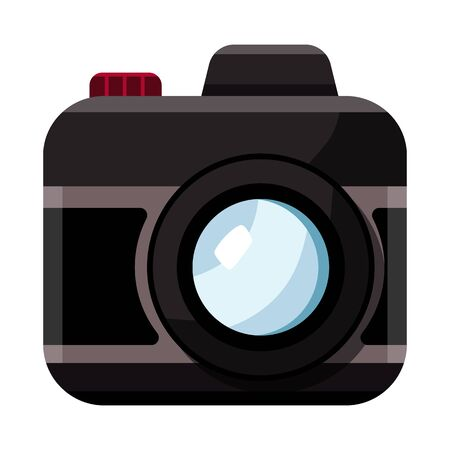 Vector design of camera and photo symbol. Collection of camera and dslr vector icon for stock.