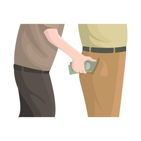 Vector design of pickpocket and theft icon. Collection of pickpocket and money stock symbol for web.