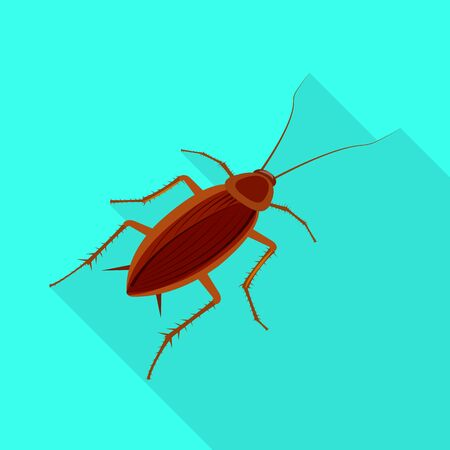 Isolated object of cockroach and pest logo. Collection of cockroach and dirty stock symbol for web.