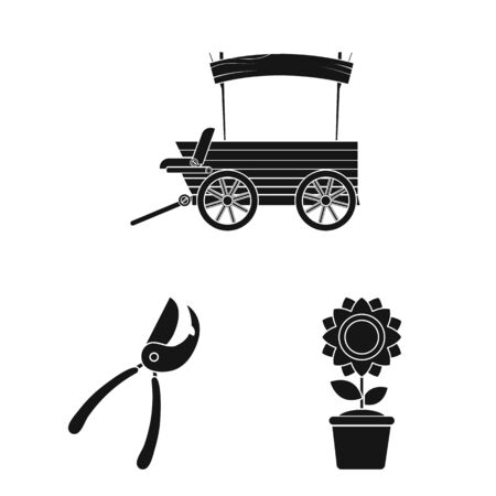 Vector illustration of farm and agriculture . Collection of farm and plant stock vector illustration. Stockfoto - 128480636