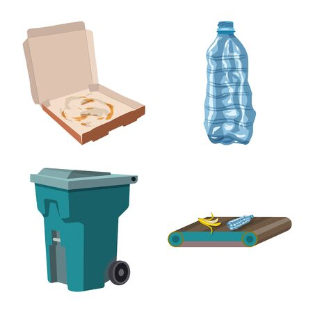 Vector illustration of environment and waste icon. Set of environment and ecology stock vector illustration. Illustration