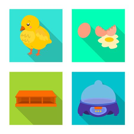 Isolated object of countryside and plant  . Collection of countryside and farming stock symbol for web.