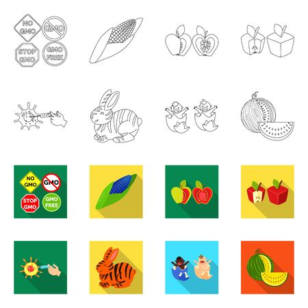 Vector design of test and synthetic icon. Collection of test and laboratory stock vector illustration. 矢量图像