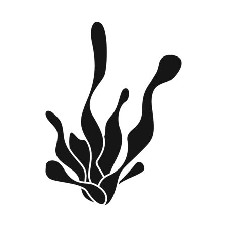 Vector design of seaweed and coral symbol. Set of seaweed and marine stock symbol for web.
