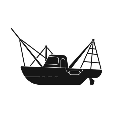 Vector design of steamboat and ship . Collection of steamboat and tugboat stock vector illustration.