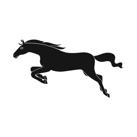 Vector design of horse and gallop . Set of horse and hoofed vector icon for stock.