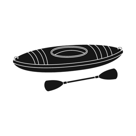 Vector design of canoe and boat logo. Set of canoe and kayak stock symbol for web.