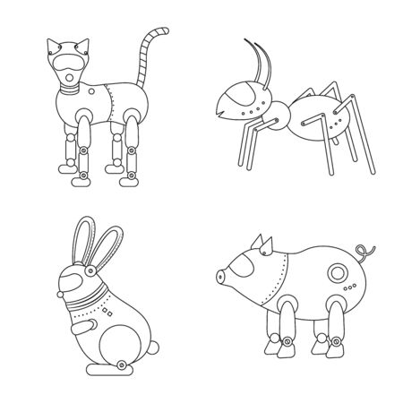 Vector design of toy and automation icon. Collection of toy and science stock symbol for web.