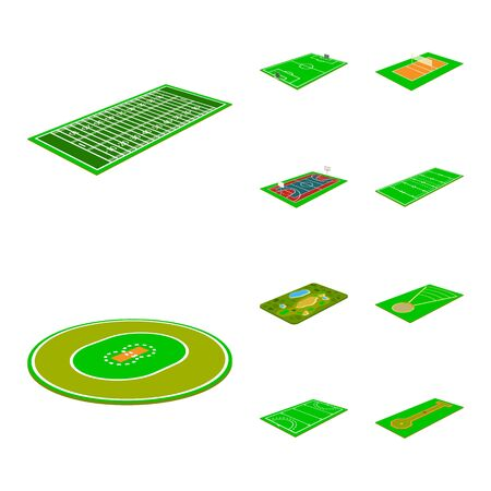 Isolated object of stadium and grass icon. Collection of stadium and game vector icon for stock. 向量圖像