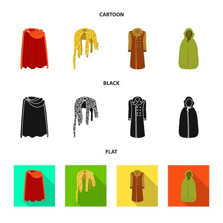 Vector illustration of material and clothing icon. Collection of material and garment stock vector illustration. Vector Illustratie