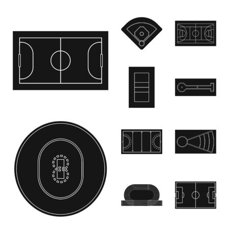 Isolated object of strategy and bullring icon. Collection of strategy and plan vector icon for stock. Illustration