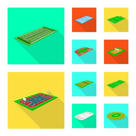 Isolated object of playground and sport sign. Set of playground and scene vector icon for stock.