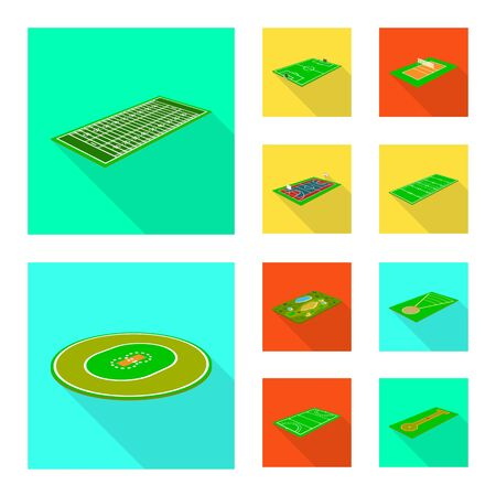 Isolated object of playground and sport symbol. Collection of playground and scene vector icon for stock.
