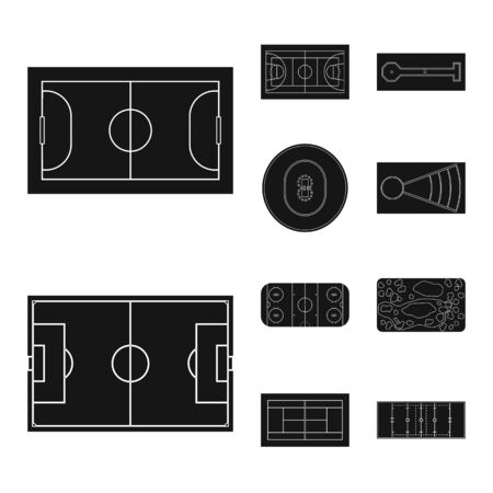 Vector design of strategy and bullring icon. Collection of strategy and plan vector icon for stock. Standard-Bild - 128099446
