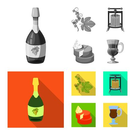 Vector design of farm and vineyard icon. Collection of farm and product vector icon for stock. Ilustração