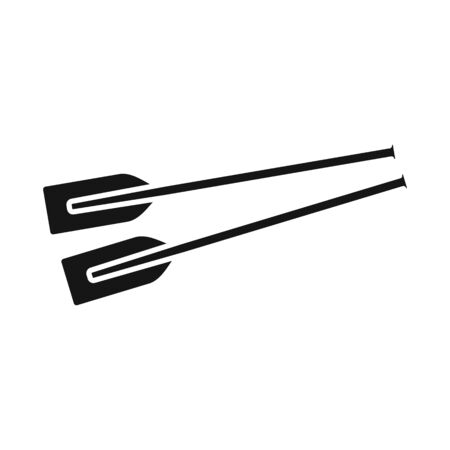 Isolated object of oars and paddle symbol. Collection of oars and sport stock symbol for web. Illustration