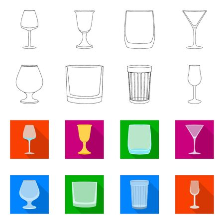 Vector illustration of form and celebration logo. Set of form and volume vector icon for stock.  イラスト・ベクター素材