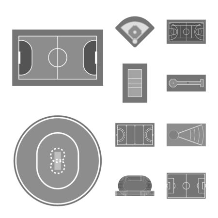 Isolated object of grass and game icon. Set of grass and construction stock symbol for web.