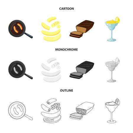 Isolated object of natural and vegetarian symbol. Set of natural and eating vector icon for stock.