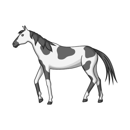 Isolated object of horse and dapple symbol. Set of horse and fauna vector icon for stock.