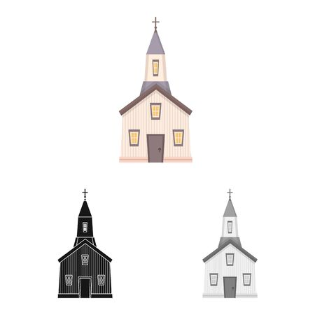 Vector illustration of church and catholic icon. Collection of church and prayer vector icon for stock.