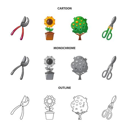 Isolated object of farm and agriculture  . Set of farm and plant bitmap icon for stock. Stockfoto