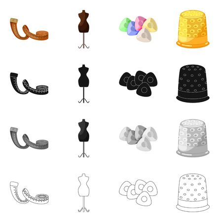 bitmap illustration of craft and handcraft. Set of craft and industry stock symbol for web.