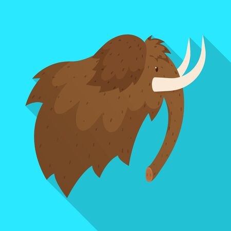 bitmap design of mammoth and wooly sign. Set of mammoth and hunt stock bitmap illustration.