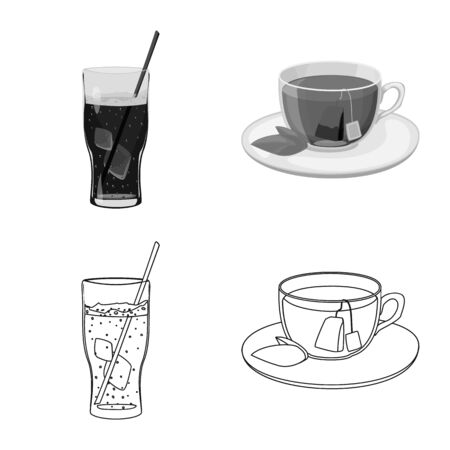 Isolated object of drink and bar icon. Set of drink and party stock symbol for web.