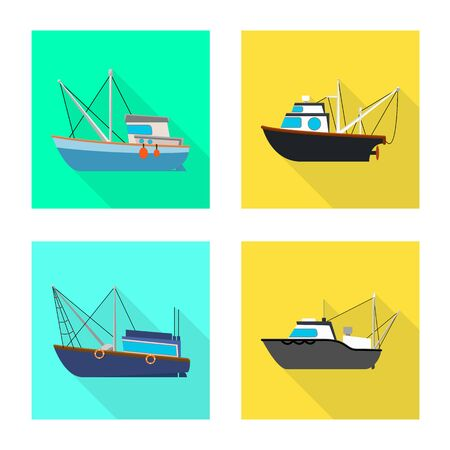Vector design of transport and industrial sign. Collection of transport and yacht stock vector illustration.  イラスト・ベクター素材