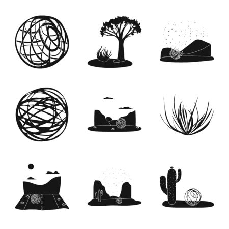 Isolated object of travelling and environment sign. Collection of travelling and america vector icon for stock.