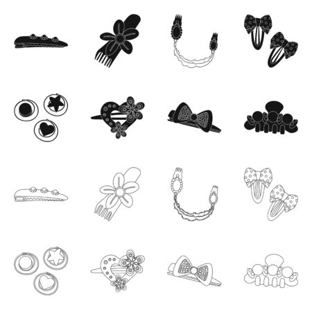 Vector illustration of beauty and fashion logo. Collection of beauty and female vector icon for stock.