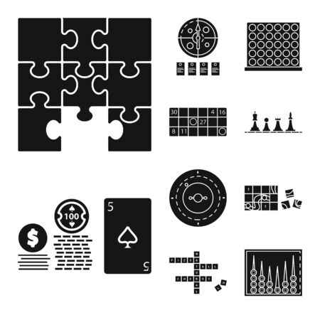 Vector design of leisure and rivalry icon. Set of leisure and concept vector icon for stock.