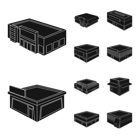 Isolated object of and house symbol. Collection of and building vector icon for stock.