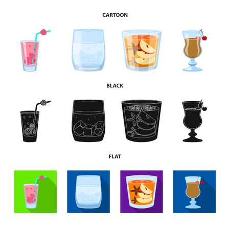 Isolated object of liquor and restaurant icon. Collection of liquor and ingredient stock symbol for web.