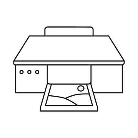 Multifunction printer icon. Illustration