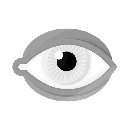Isolated object of eye and eyeball symbol. Collection of eye and blue stock symbol for web.