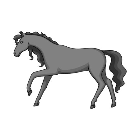 Vector illustration of horse and hippodrome symbol. Collection of horse and horseback stock symbol for web.