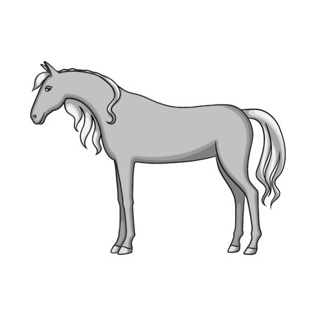 Vector design of horse and stand logo. Set of horse and wildlife stock symbol for web.