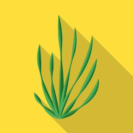 Vector design of seaweed and algae sign. Set of seaweed and undersea vector icon for stock.