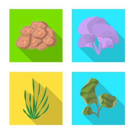 Vector illustration of biodiversity and nature. Set of biodiversity and wildlife stock symbol for web. 向量圖像