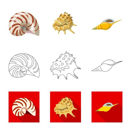 Vector design of animal and decoration icon. Collection of animal and ocean stock symbol for web.