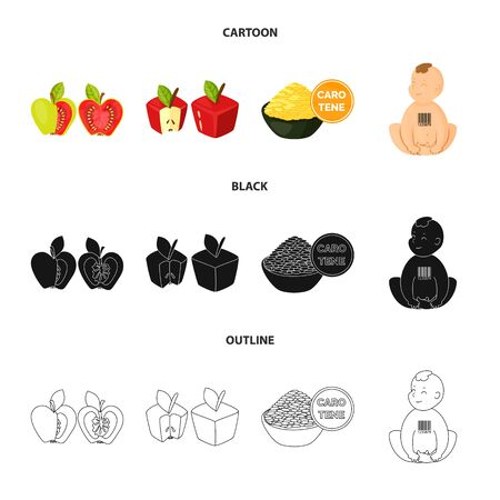 Vector design of test and synthetic icon. Collection of test and laboratory stock vector illustration. Illustration