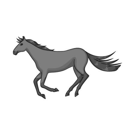 Vector design of horse and hippodrome. Collection of horse and jumping stock symbol for web.