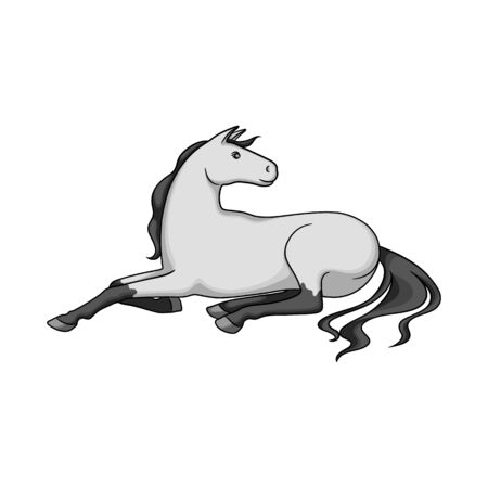 Vector illustration of horse and breed sign. Collection of horse and agriculture stock symbol for web.