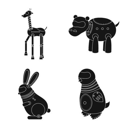 Vector design of toy and toy icon. Collection of toy and mechanism vector icon for stock. Фото со стока - 128644967