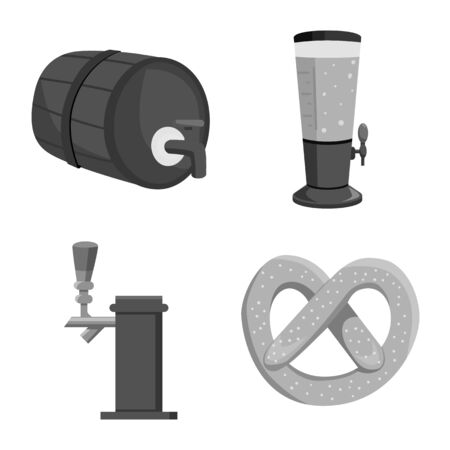 Isolated object of restaurant and oktoberfest icon. Collection of restaurant and brewing stock symbol for web.