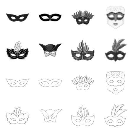 Isolated object of luxury and celebration symbol. Set of luxury and hide stock symbol for web. Çizim
