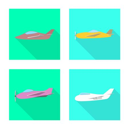 Isolated object of travel and airways. Collection of travel and navigation stock vector illustration. Ilustração